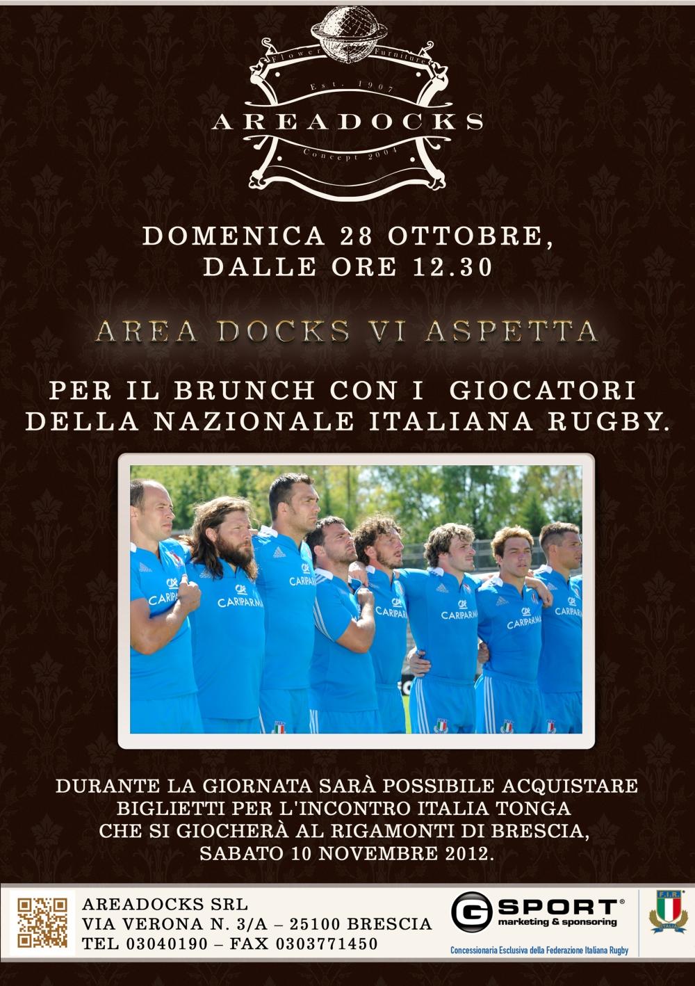 Areadocks Italia - Tonga DOMENICA 28 OTTOBRE BRESCIA