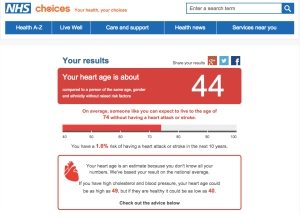 nhs risultato test infarto